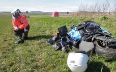 Un motorista vallisoletano, grave en un accidente de tráfico en Pamplona