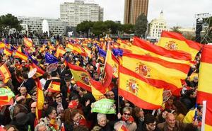 PP, Cs y Vox movilizan a decenas de miles de personas contra Sánchez a tres meses del 26-M
