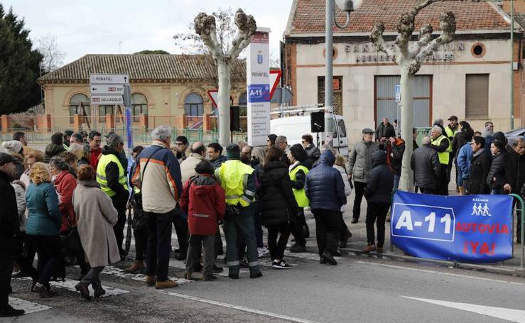 Protesta plataforma A11 Pasos