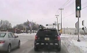 Un camión embiste brutalmente a una patrulla policial en Wisconsin