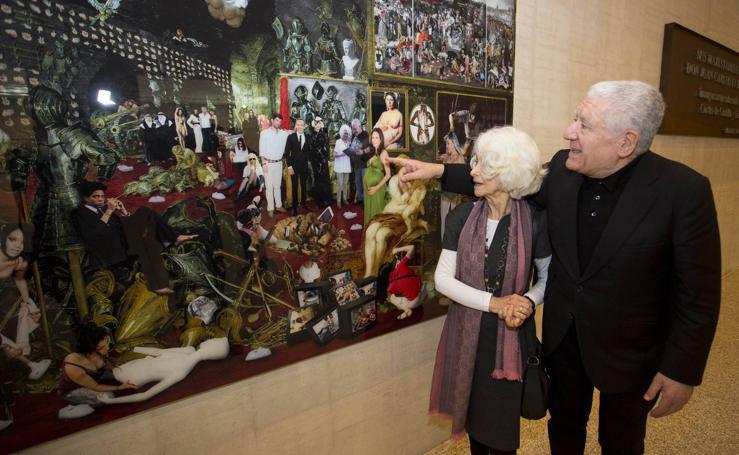 Obras de la Colección Bassat se exponen en la muestra 'Cataluña en el corazón de Castilla y León' en el vestíbulo de las Cortes