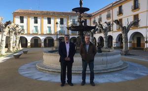 La obra de la plazuela del Buen Alcalde de Ciudad Rodrigo posibilitará el juego sin dañar la fuente