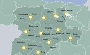 Las temperaturas se desplomarán hasta diez grados el lunes tras un cálido fin de semana en Valladolid