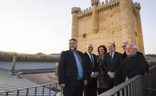 Juan Vicente Herrera asiste a la apertura del Castillo de Fuensaldaña como Centro de Castillos de Valladolid