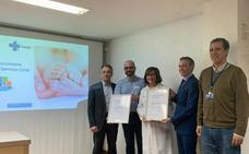 El hospital recibe un sello de excelencia en la gestión de gases medicinales