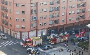 Atendidas tres personas por inhalación de humo en un incendio en Palencia