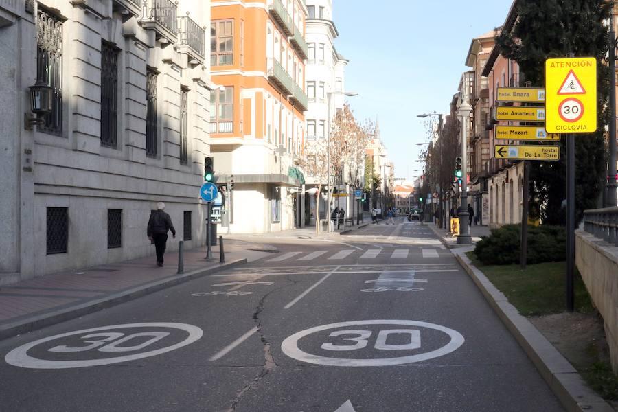 Tráfico cortado al tráfico en Valladolid por la contaminación