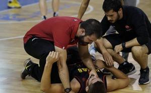 Pere Sureda, alero del CB Tormes, dice adiós a la temporada por una lesión de rodilla