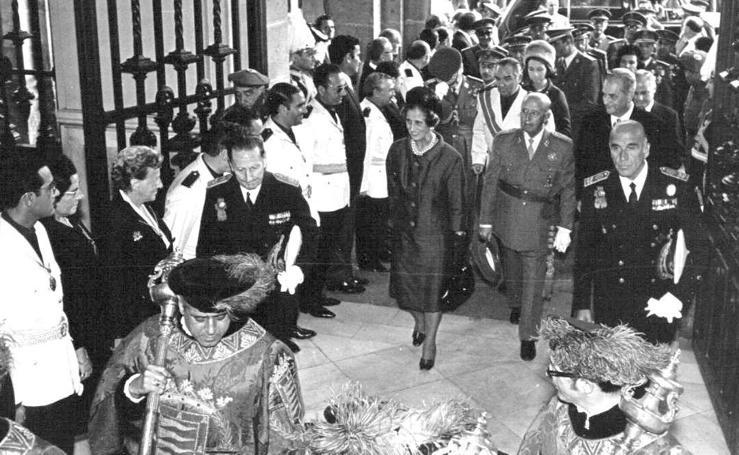 Las visitas de Franco a Valladolid