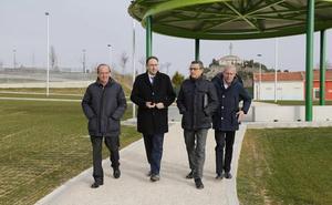 Palencia presume de nuevo parque en los entornos del pabellón Mariano Haro
