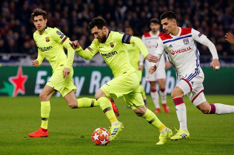 Las mejores imágenes del Lyon-Barcelona