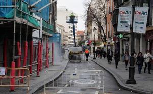La Bajada de la Libertad de Valladolid queda abierta al tráfico dos días antes de lo previsto