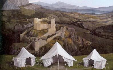 El cuadro del monte Tabor de Luis Mallo que se exhibió en Las Edades se queda en Aguilar