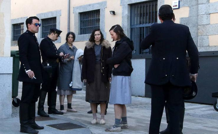 «Las chicas del cable» ruedan la cuarta temporada de la serie en Segovia
