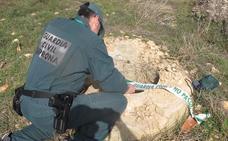 La Guardia Civil de Soria procede a la señalización de dos pozos de 60 centímetros de diámetro