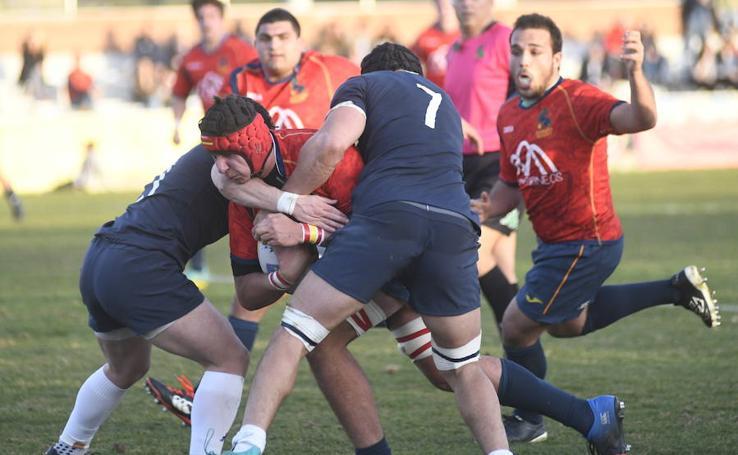 Partido de rugby entre España y Francia en Valladolid
