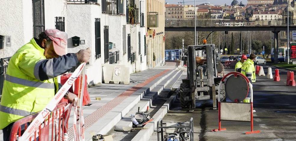 Las mejoras del acceso sur a Salamanca costarán 192.000 euros y finalizarán en mayo