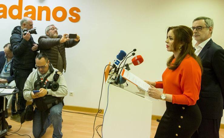 Silvia Clemente comparece en la sede de Ciudadanos en Valladolid