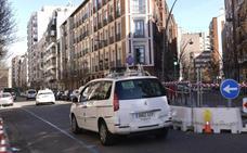 Reabren al tráfico la calle Gamazo de Valladolid tras el reventón de una tubería