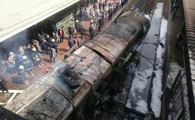 Sube a 25 la cifra de muertos por el accidente en la estación de tren de El Cairo