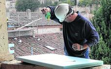 La restauración de las cubiertas del Parral terminará este verano