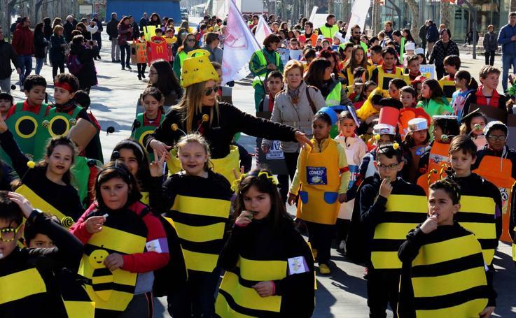 Pasacalles de carnaval por el centro de Valladolid
