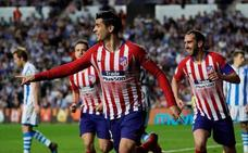 Morata mantiene al Atlético en cabeza