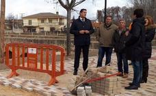 Las obras de la pasarela peatonal de Venialbo finalizarán en mayo