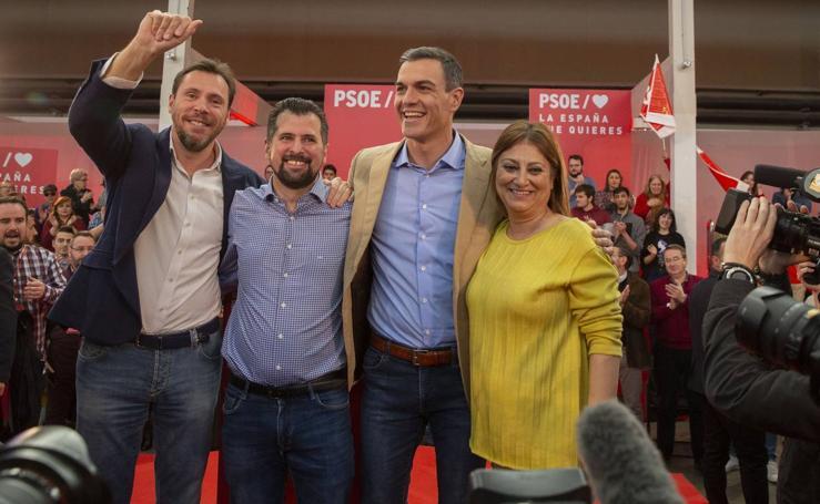 Pedro Sánchez participa en Valladolid en un acto con militantes y simpatizantes del PSOE