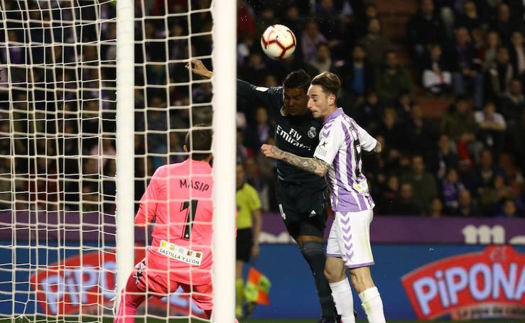 Real Valladolid-Real Madrid, en imágenes