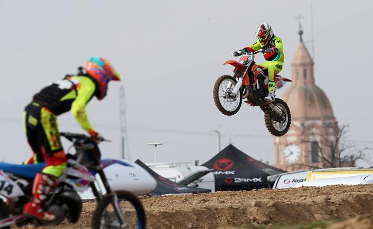 Campeonato de Motocross de Castilla y León en la localidad vallisoletana de Rueda