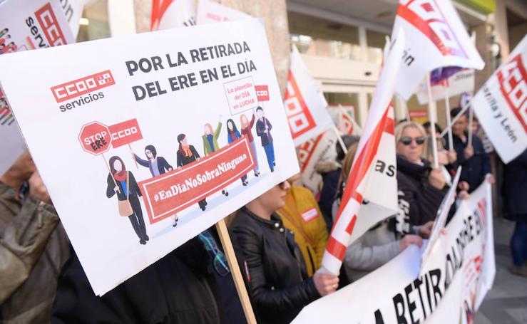Protesta de los trabajadores de Supermercados DIA