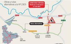 La carretera de Castrillo a la N-122 cierra hoy tres semanas por obras