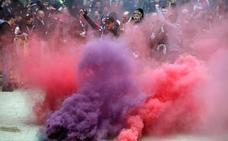 Diez heridos y cinco detenidos en choques entre hinchas del Barça y del Lyon