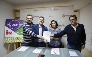 Ganemos, Podemos, IU y Equo reeditan su alianza para las elecciones municipales