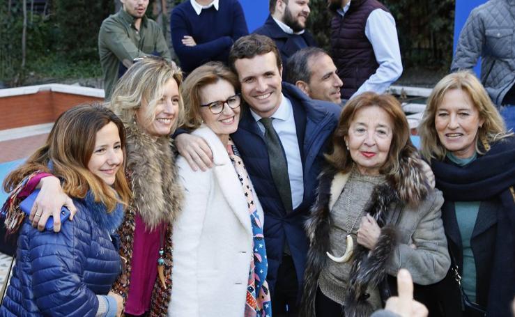 Pablo Casado participa en un acto con militantes del Partido Popular en Valladolid