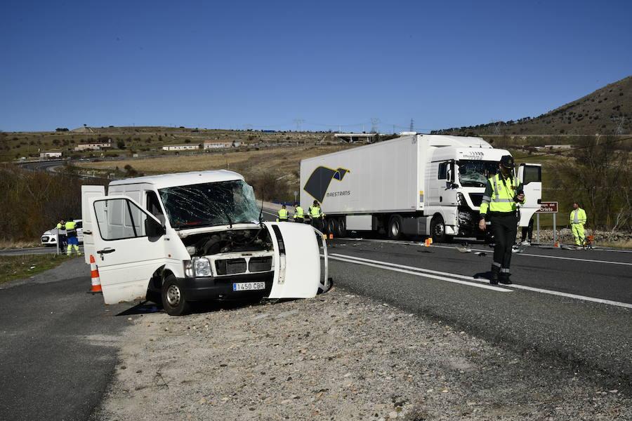 Accidente mortal en la N-VI en El Espinar