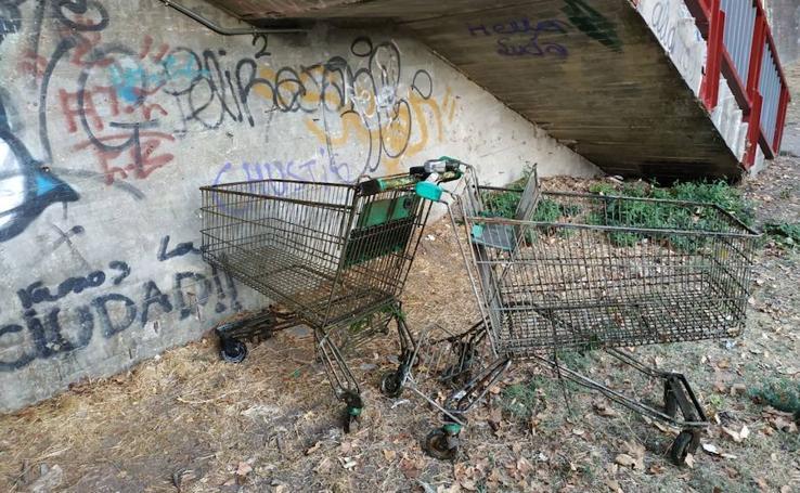 Toda esta basura han retirado dos adolescentes del río Carrión