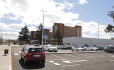 Un laberinto de asfalto en el Hospital de Palencia