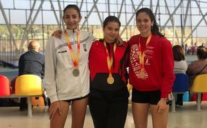 Dos medallas de bronce en los nacionales de atletismo sub 16