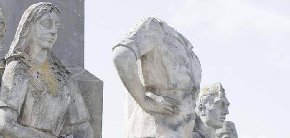 Aparece la cabeza de la estatua del general Yagüe once años después de su robo en la localidad soriana de San Leonardo