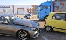 Accidente sin heridos en la travesía de Peñafiel