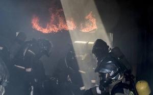 Fuego real para los bomberos de Valladolid