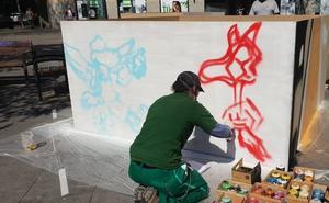 Arte joven en la plaza de San Miguel de Valladolid