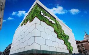 Mira cómo será el primer jardín vertical de Valladolid, en la fachada de El Corte Inglés