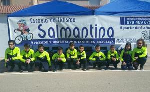 Doble podio para la Escuela de Ciclismo Salmantina en Palencia