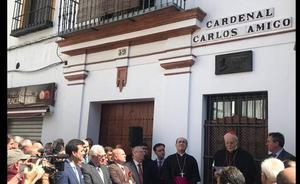 Sevilla dedica una calle al cardenal riosecano Carlos Amigo