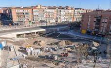 El paso de Rafael Cano en Valladolid abrirá la semana que viene sin concluir la urbanización de la plaza