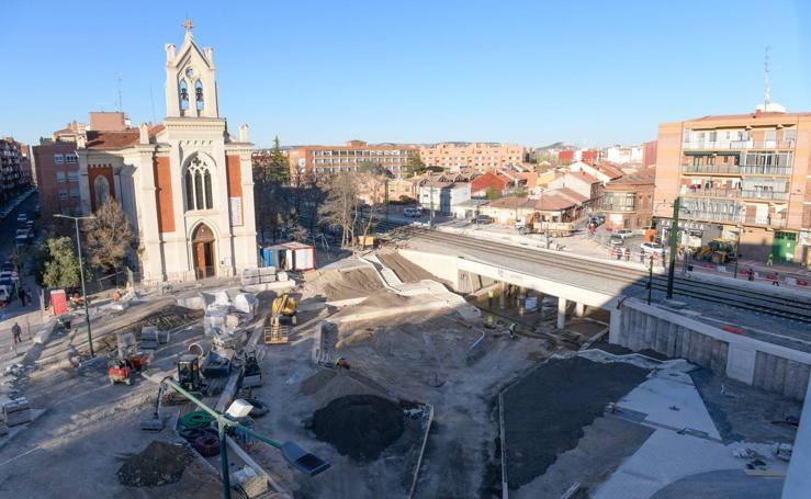 Estado actual de las obras de la plaza de Rafael Cano, en Pilarica