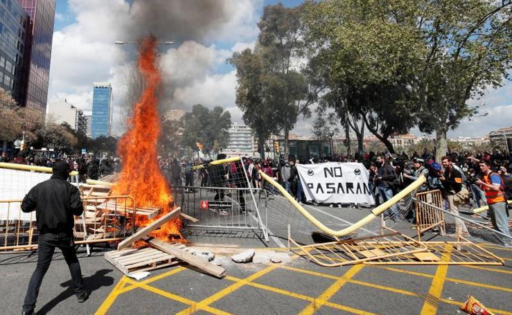Vox en Barcelona: Incidentes y varios detenidos independentistas